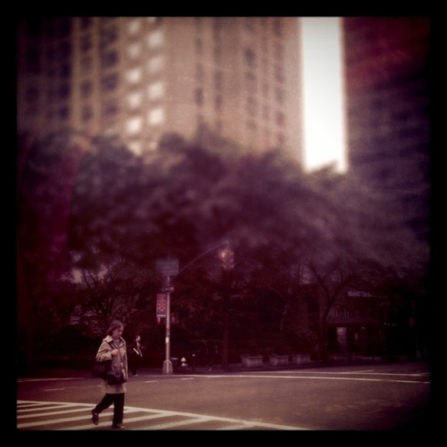 midtown, girl, walking